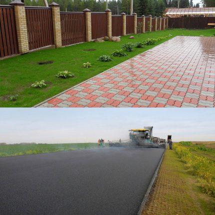 Отличие тротуарной плитки от асфальта
