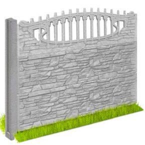 Забор бетонный «Песчаник» 2000x500x50
