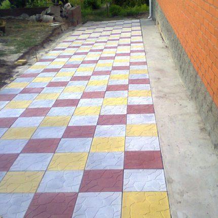 Укладка тротуарной плитки — Весна-Лето 2015
